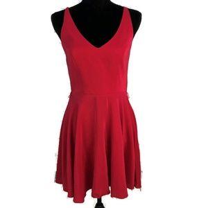 AMANDA UPRICHARD Silk Little Red Dress P